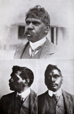 Aborigine trackers working for the police force, Australia