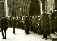 Crowd outside Bow Street Magistrates Court, London