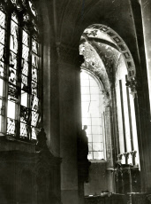 Malines Cathedral damaged by German shell, WW1