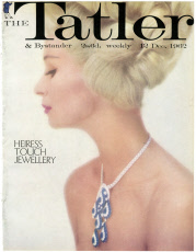 Tatler front cover with model wearing Cartier necklace