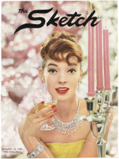 Cover of The Sketch featuring model wearing Cartier jewels