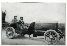 Mors car, world record holder, with Collomb driving