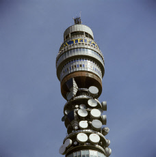 The top of the British Telecom BT Tower, London