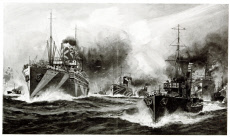 Warships transport American troops to Europe, WW1