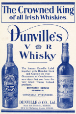 Advert for Dunville\'s Whisky, Belfast 1911
