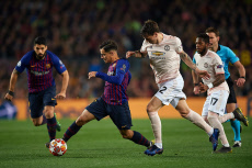 FC Barcelona v Manchester United UEFA Champions League 2018-2019, round of 8, second leg. Football. Camp Nou Stadium. Barcelona, Spain, 16 Apr 2019.