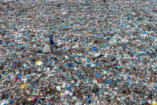 Plastic waste in Lhokseumawe, Indonesia - 21 Apr 2019