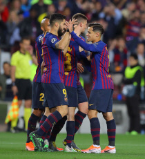 Barcelona v Liverpool, UEFA Champions League Semi Final First Leg, Football, Camp Nou, Barcelona, Spain - 01 May 2019