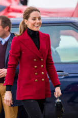 The Duke and Duchess of Cambridge visit Caernarfon Coastguard Search and Rescue Helicopter Base
