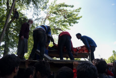 Funeral ceremony of Showkat Ahmed in Pulwama, India - 18 May 2019