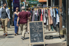 Shopping in Park Slope in Brooklyn in New York