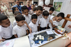 Funeral of 11-year-old Erick Altuve for lack of health care system in Caracas, Venezuela - 29 May 2019