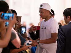 Kylian Mbappe at Haneda International Airport, Tokyo, Japan - 18 Jun 2019