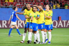 FIFA women world cup match between Italy and Brazil
