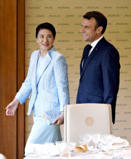 President Macron meets Japan's Imperial family in Tokyo