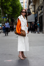 Street fashion in Paris, Haute Couture, july 2019