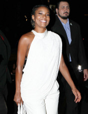 Gabrielle Union Rocks Sold Out Yeezy Wedges At Kevin Hart's B-Day Celebration