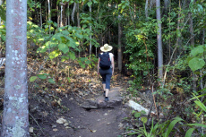 Woman hiking at Litchfield National Park Northern Territory Australia