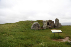 Long Barrow, Neolithic burial chamber, West Kennet, Wiltshire, UK - 11 Jun 2019