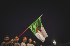 Nice: Supporters celebrate Algeria Africa Cup victory