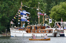 The Traditional Boat Show, Fawley Court, Henley on Thames, Oxfordshire, UK - 21 Jul 2019
