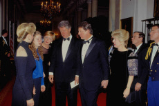 The Clintons' first State Dinner, Washington DC, USA - 01 Feb 1993