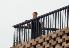 Male arrested for attempted murder after child is thrown from viewing platform at Tate Modern, London, UK - 04 Aug 2019
