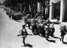 DEFEATED JAPS, MARCH THROUGH HONG KONG