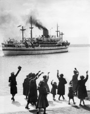 Troopship Sails For Hong Kong