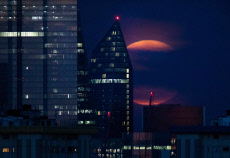 Sturgeon full moon, London, UK - 15 Aug 2019