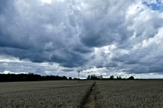 Seasonal weather, Oxfordshire, UK - 18 Aug 2019