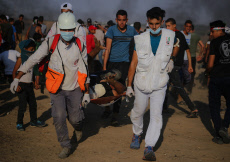 Clashes between Palestinians and Israel forces in Gaza, Palestine - 23 Aug 2019