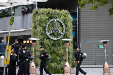 Demonstration against Mercedes-Benz, Munich, Germany - 07 Sep 2019