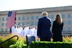 President Trump Lays a Wreath at the Pentagon for 9/11
