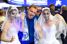 Russia: Horror parade ahead of Russian Premier League match between Zenit St Petersburg and Arsenal Tula