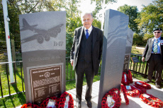 Unveiling and dedication of US war memorials, Newbury, UK - 18 Sep 2019