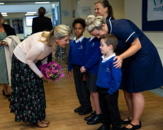 Sophie Countess of Wessex visit to Musgrove Park Hospital, Taunton, Somerset, UK - 24 Sep 2019