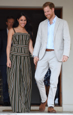 Harry and Meghan attend a Reception for Young People
