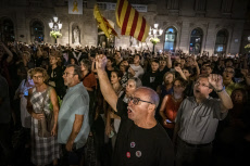 Protest for the entry into prison of independent activists in Barcelona, Spain - 26 Sep 2019