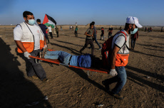 Weekly confrontations between the Palestinians and the Israeli security forces in Gaza - 27 Sep 2019
