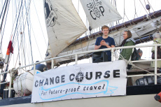 Netherlands: Young Activists board on the sailboat Regina Maris