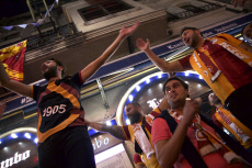 Turkey Champions League Galatasaray supporters