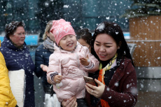 Russia: First snow in Moscow Region
