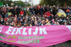 Extinction Rebellion Climate Activists Protest in Amsterdam