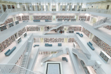 GERMANY-STUTTGART-MUNICIPAL LIBRARY