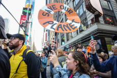 Extinction Rebellion protest, New York USA - 10 Oct 2019