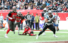 Tampa Bay Buccaneers  v Carolina Panthers play in the NFL London Games at Tottenham Hotspur Stadium in London on Sunday, October 13th