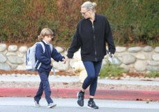 Molly Sims and her son Brooks Alan Stuber out and about, Los Angeles, USA - 14 Oct 2019