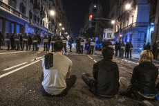 Independence protest against court sentences in Barcelona, Spain - 14 Oct 2019