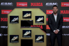 APTOPIX Spain Messi Golden Boot
